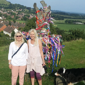 Wearall Hill Glastonbury Helen & Dee